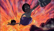 Shanti et mowgli sauvés par baloo