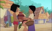 Mowgli rend la jarre d'eau à shanti