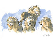 Lion king concept art character mufasa 01