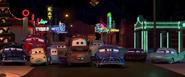 Les habitants de Radiator Springs tristes