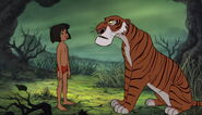 Mowgli face à Shere Khan
