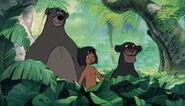 Mowgli baloo et bagheera arrivent au village des hommes