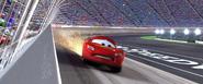 Flash et ses pneus explosés