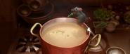 Rémy améliorant la soupe