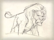 Lion king concept art character mufasa 02