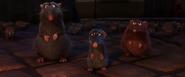 Rémy et les rats après avoir été mis à la porte