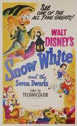 Affiche blanche neige 1952