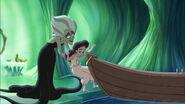 Morgana aide melodie à déscendre de la barque