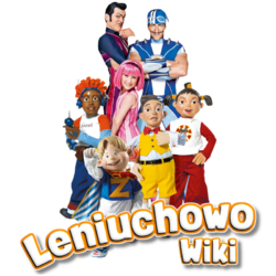 Główne postacie Leniuchowa oraz logo wiki