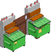 Portail recyclé
