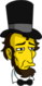 Abraham Lincoln Triste