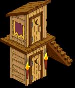 Cabanon à deux étages