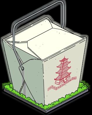 Boîte géante de nourriture chinoise