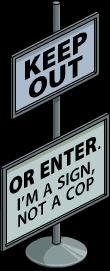 Panneau Entrée interdite