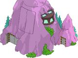Base secrète dans volcan