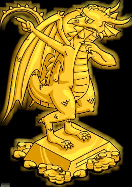 Statue Burns Dragon