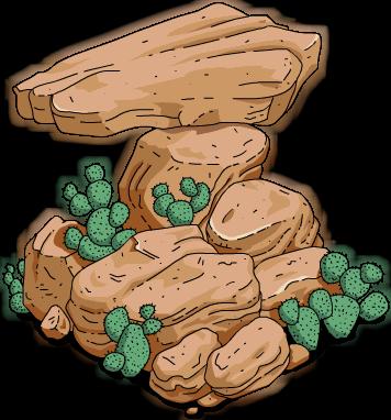 Rocher à cactus (moyen)