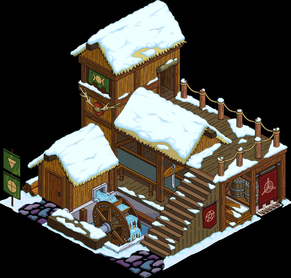 Moulin de bois