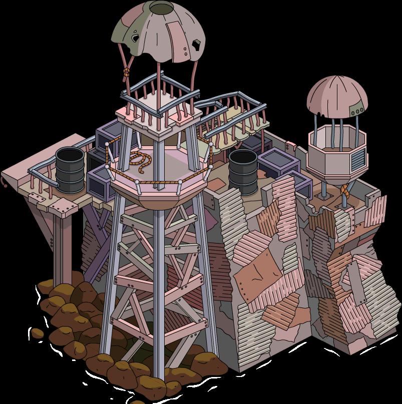 Tour de garde Aqua World