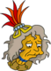 Folle aux iguanes Triste