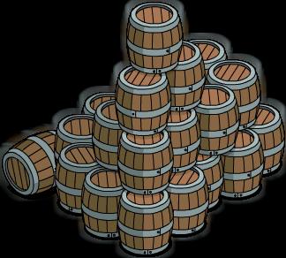 Barriques en bois (pile)
