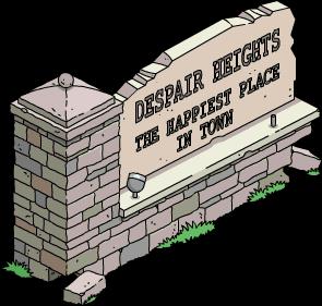 Panneau Despair Heights