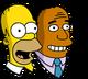 Homer et Dr Hibbert Chantant