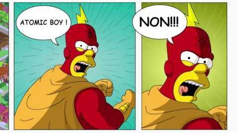 Mort d'un héros - Les Simpson Springfield