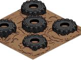 Parcours de pneus