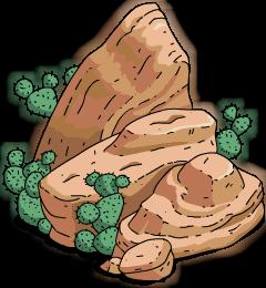 Rocher à cactus (petit)