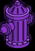 Bouche d'incendie Fierté violette