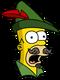 Homer Robin des bois Surpris