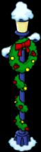 Lampadaire festif à couronne