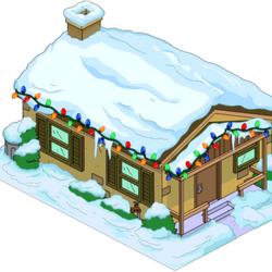 Maison marron de Noël