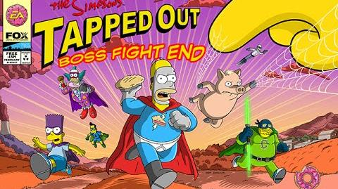 The Simpsons Tapped Out SuperHeroes Event Boss Fight End (Thanks to spAnser @TSTONews)
