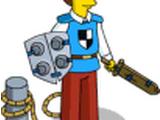 Nerd chevalier bleu