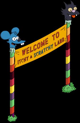 Bannière Itchy et Scratchy Land