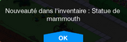 Statue de mammouth Inv