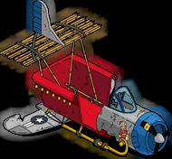 Avion-traîneau du Père Noël