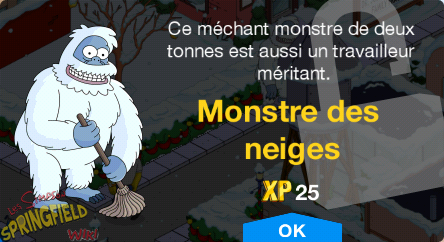 Monstre des neiges