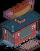 Wagon-resto à hot-dogs au chili