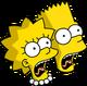 Bart et Lisa Hurlant