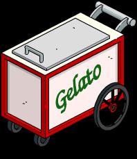Stand de glaces à l'italienne