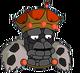 Vieux roi charbon Triste