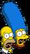 Homer et Marge Hurlant