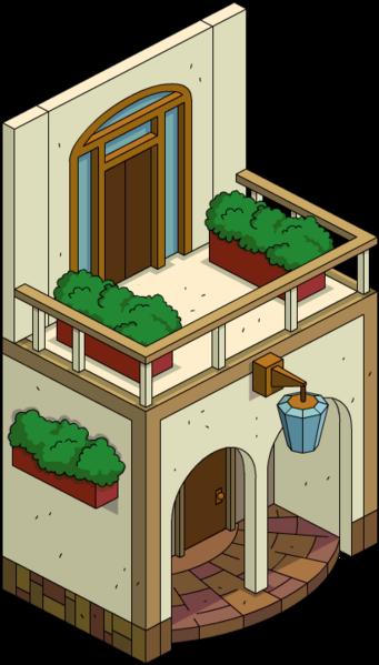 Balcon avant classique