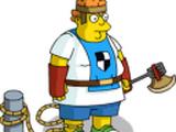 Nerd guerrier bleu