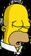 Homer Retraité Endormi