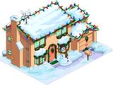 Maison des Simpson de Noël
