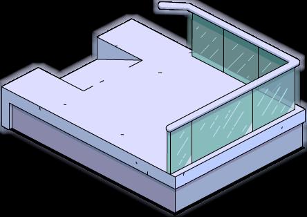 Balcon inférieur moderne